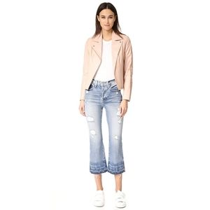 AYR The Styx Crop Flare Distressed Jeans S…